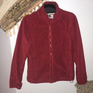 Red Columbia removable fleece lining/ windbreaker
